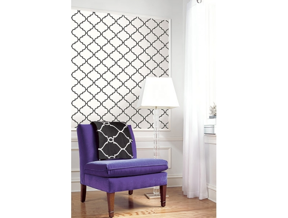Tile Trellis Wallpaper Room Setting