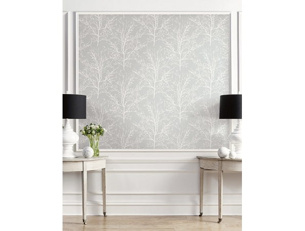 Winter Branches Wallpaper Room Setting