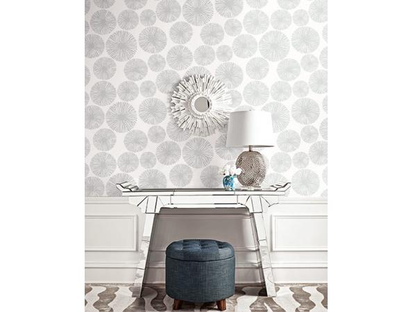 Sunburst Wallpaper Room Setting