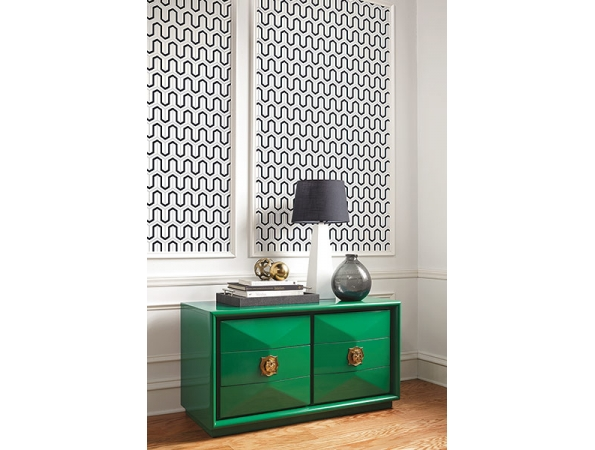 Modern Parket Geometric Wallpaper Room Setting