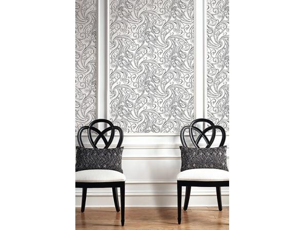 Paisley Wallpaper Room Setting