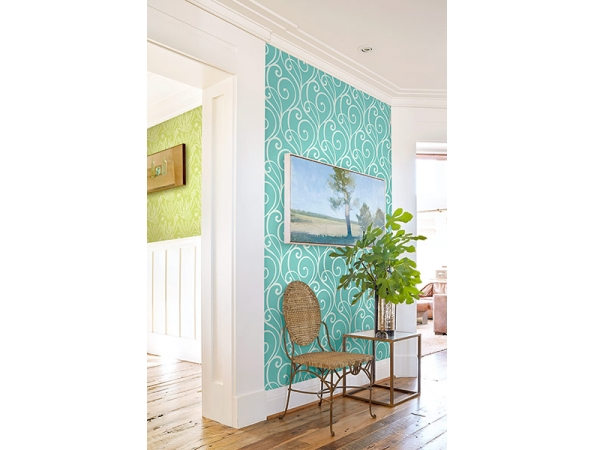 Modern Scroll Wallpaper Room Setting