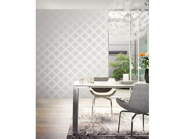 Interlocking Octagons Wallpaper Room Setting