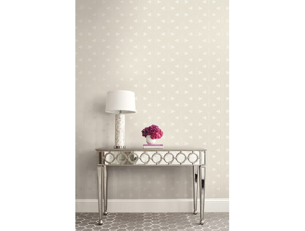 Triangle Geometric Wallpaper Room Setting
