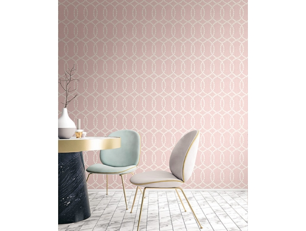 Ikat Lattice  Fusion Wallpaper Room Setting