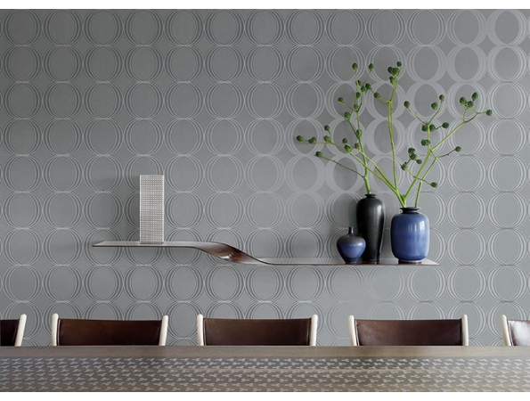 Circles with Beads Fusion Wallpaper Room Setting