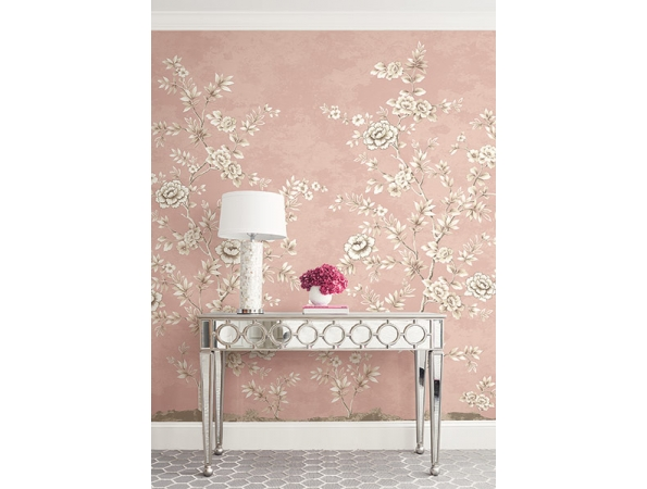 Chinoiserie Mural Brownstone Mural Room Setting