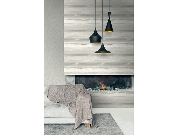 Concrete Faux Canvas Textures Wallpaper Room Setting