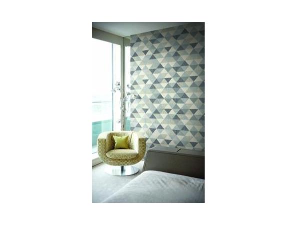 Multicolor Triangles Mod Geo Wallpaper Room Setting