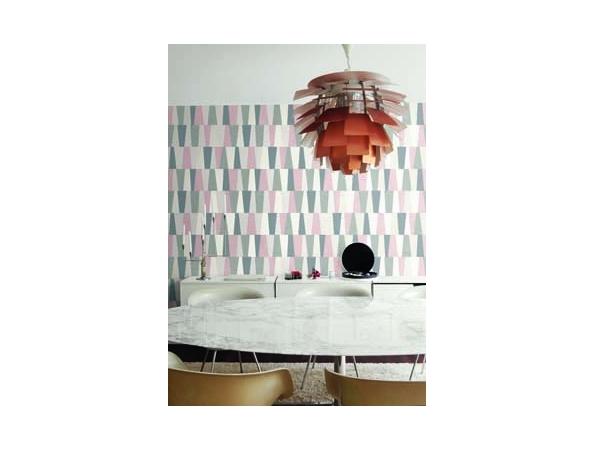 Stripe Geometric Mod Geo Wallpaper Room Setting