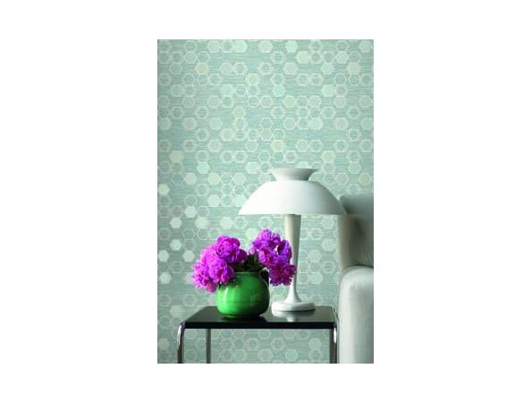 Honeycomb Geometric Mod Geo Wallpaper Room Setting
