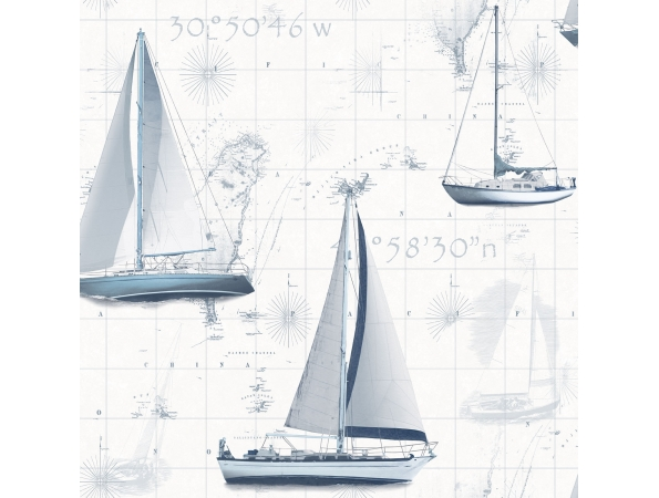 Yachts & Maps Global Fusion Wallpaper