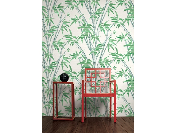 Bamboo Sumi Wallpaper Room Setting