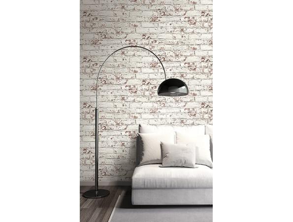 Distressed Brick Modern Foundation Wallpaper Room Setting