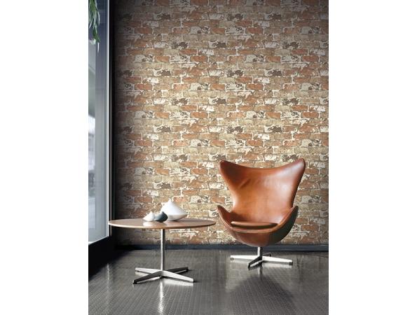 Brick Modern Foundation Wallpaper Room Setting