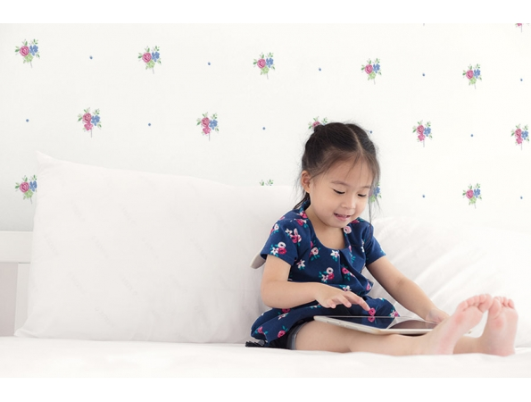 Little Posy Floral Spot Playdate Adventure Wallpaper Room Setting