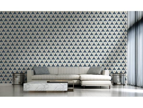 3D Wood Geometric Modern Foundation Wallpaper Room Setting