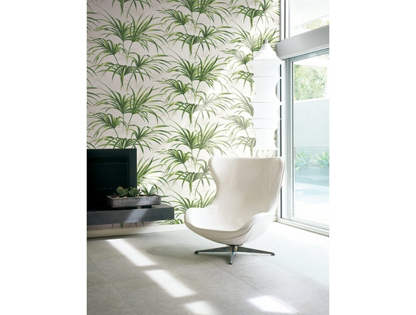 Open Palm Leaf Maui Maui Wallpaper Room Setting