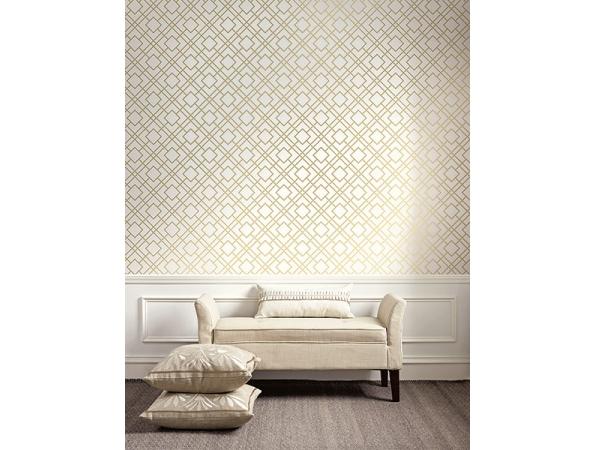 Geometric Sumi Wallpaper Room Setting