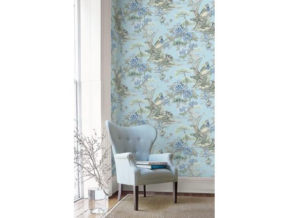 Bird Trail Sumi Wallpaper Room Setting