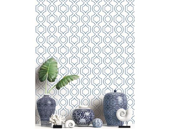 Handdrawn Geometric Maui Maui Wallpaper Room Setting