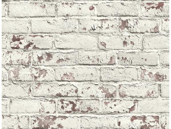Distressed Brick Modern Foundation Wallpaper