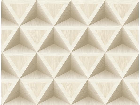 3D Wood Geometric Modern Foundation Wallpaper