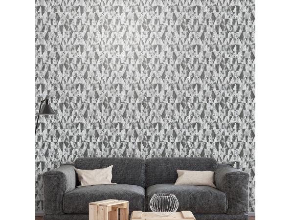 Rusty Triangles Grunge Wallpaper Room Setting