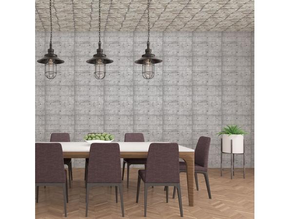 Concrete Blocks Grunge Wallpaper Room Setting