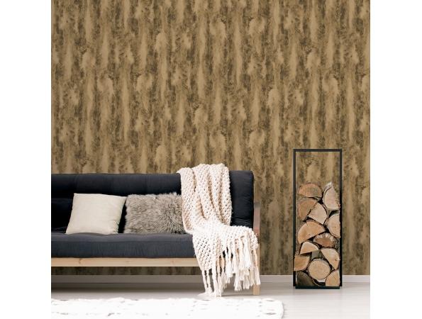 Chinchilla Fur Organic Textures Wallpaper Room Setting