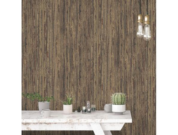 Rough Grass Organic Textures Wallpaper Room Setting