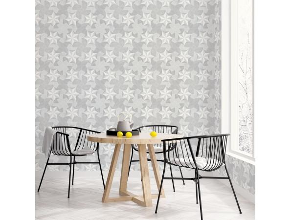 Inlay Wood Organic Textures Wallpaper Room Setting