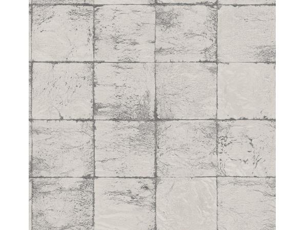 Metallic Blocks Sumi Wallpaper