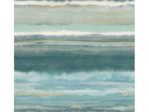 Watercolor Stripe Sumi Wallpaper