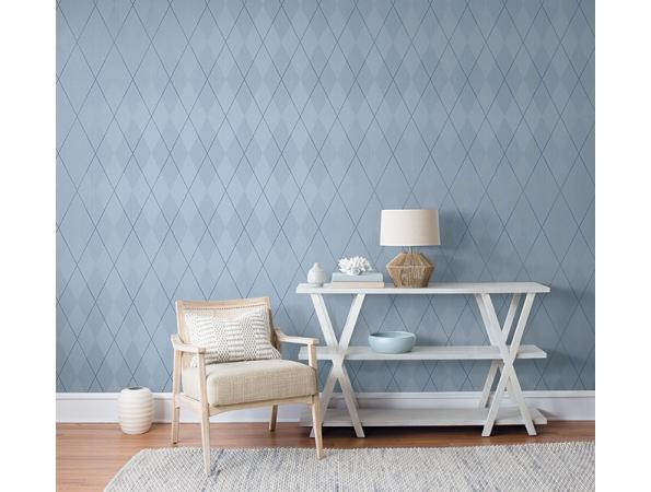 Argyle on String Paper & Ink Wallpaper Room Setting
