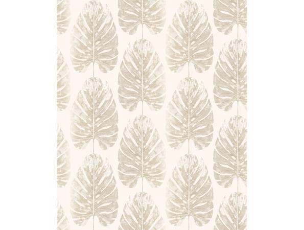 Leaf Stripe Evergreen Wallpaper