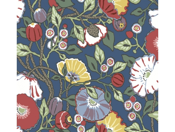 Vincent Poppies Conservatory Wallpaper