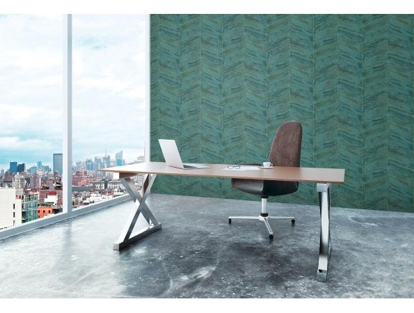 Chevron Ambiance Wallpaper Room Setting