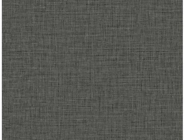 Black Faux Easy Linen Texture Gallery Wallpaper