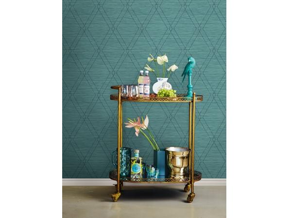 Charleston Diamonds Wallpaper Room Setting